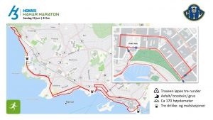 Løpetrasè 42 km